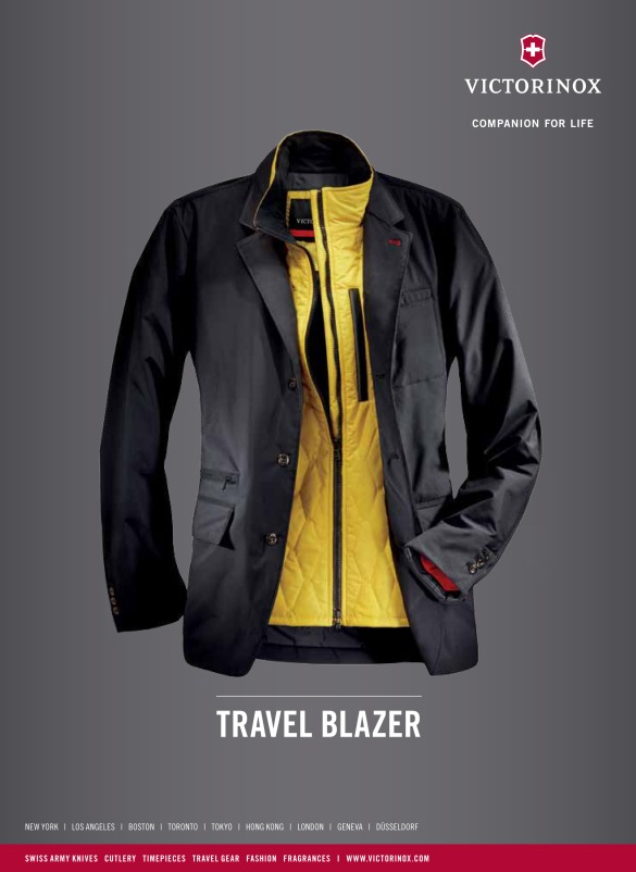 Mens travel blazer