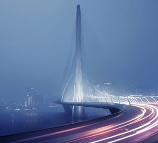 Danjiang Bridge, 2015. © Zaha Hadid Architects