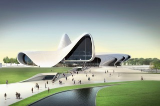 Heydar Aliyev Museum, Baku. © The Guardian