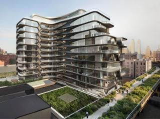 © Zaha Hadid NYC Building - Sting And Trudie Styler Apartment On The ... Town & Country Magazine